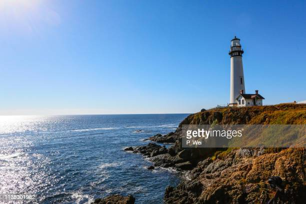 pigeon point lighthouse in pescadero - san mateo county stock pictures, royalty-free photos & images