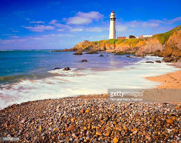 Pigeon Point Lighthouse on California Coastline