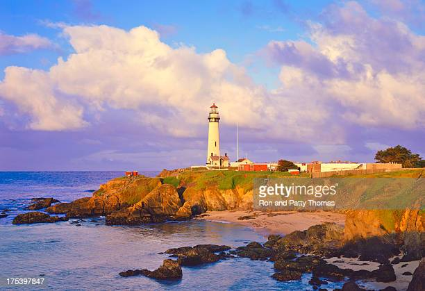 Pigeon Point Lighthouse on California Coastline