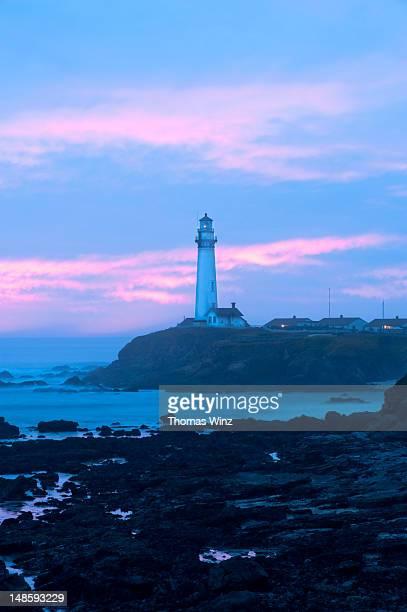 Pigeon Point Lighthouse, on Highway 1 between Half Moon Bay and Santa Cruz.