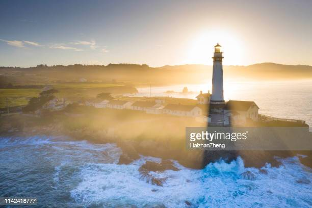 pigeon point lighthouse - san mateo county stock pictures, royalty-free photos & images