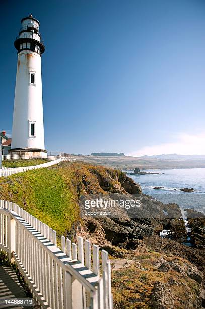 pigeon point lighthouse - jcbonassin stock pictures, royalty-free photos & images