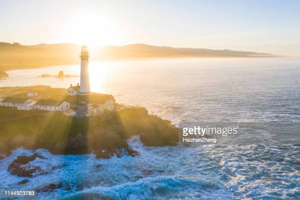 pigeon point lighthouse,pescadero,ca - san mateo county stock pictures, royalty-free photos & images