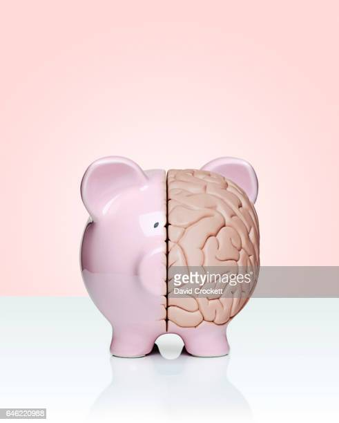 Piggy bank and brain