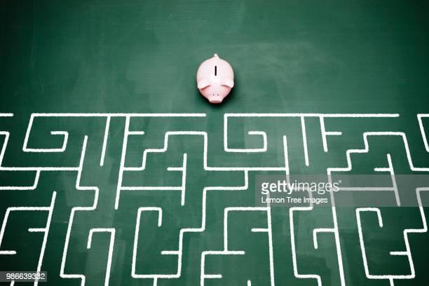 Piggy bank and maze