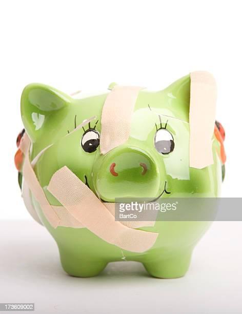 piggy bank broken