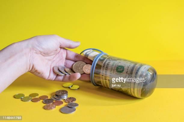 a piggy bank for coins - bank icon stock-fotos und bilder
