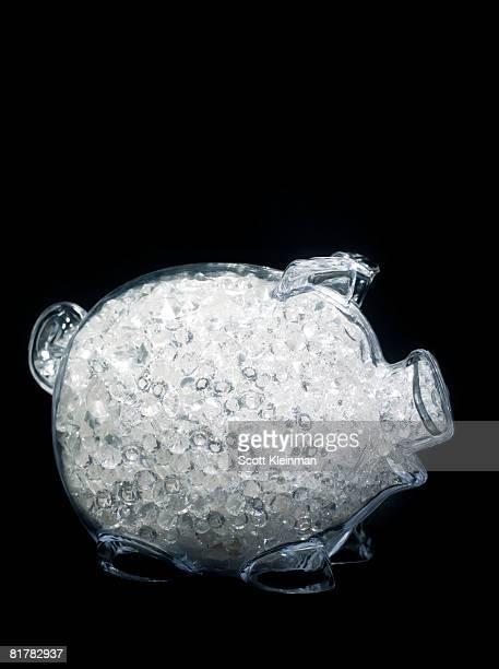 Piggy Bank full of Diamonds