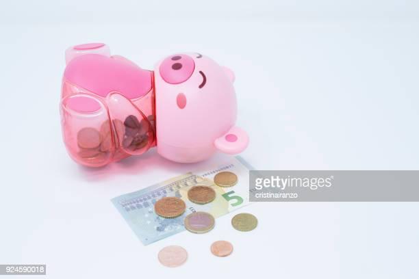 Piggy bank lying