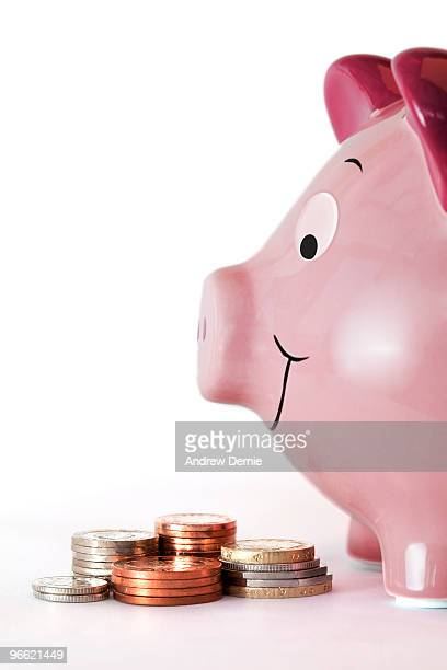 piggy bank - andrew dernie stock pictures, royalty-free photos & images