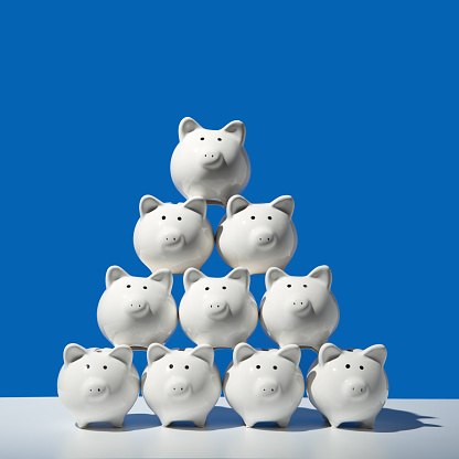 Piggy bank pyramid - gettyimageskorea