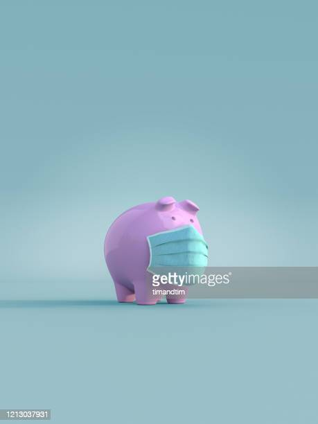 piggy bank wearing a mask - currency stock pictures, royalty-free photos & images