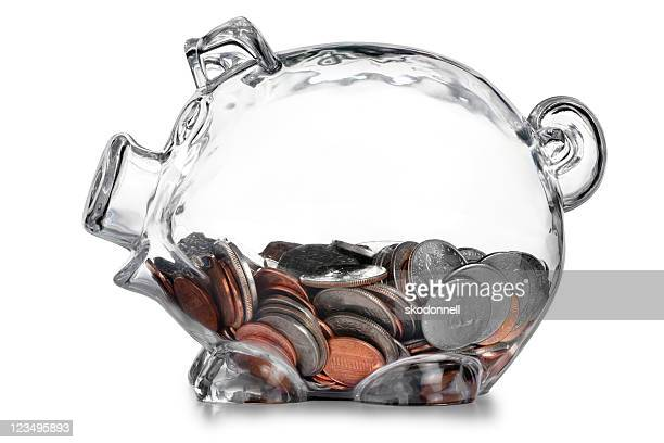 piggy bank with change
