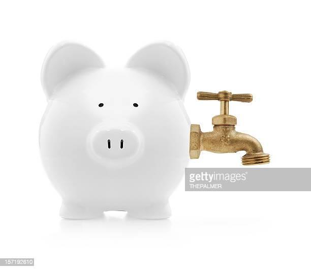 piggybank with faucet