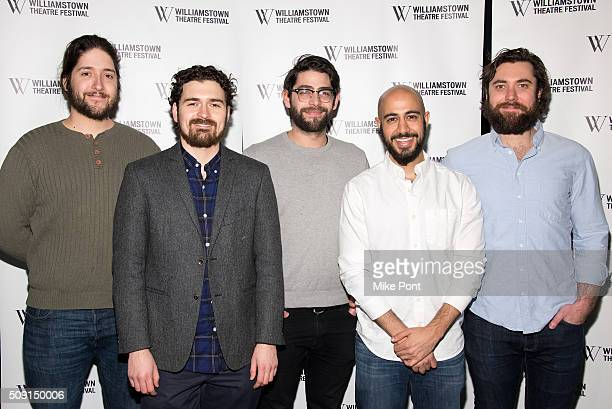 PigPen actors Dan Weschler Ben Ferguson Curtis Gillen Arya Shahi and Alex Falberg attend the 2016 Williamstown Theatre Festival Benefit at City...