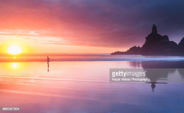 Piha Beach Sunset.