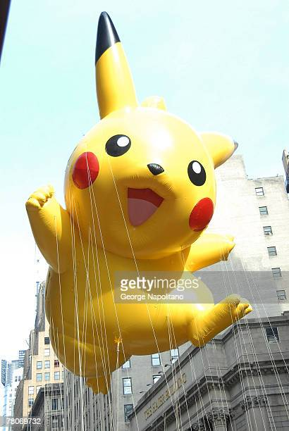 Pikachu arrives at the Macy's Thanksgiving Day Parade in New York City on November 22 2007