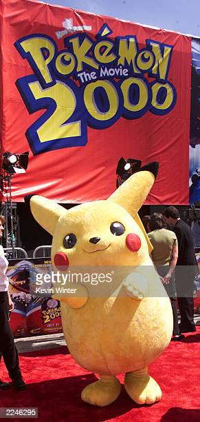 Pikachu at the Premiere of 'Pokemon the Movie 2000' at the Village Theater Westwood Ca on 7/15/2000