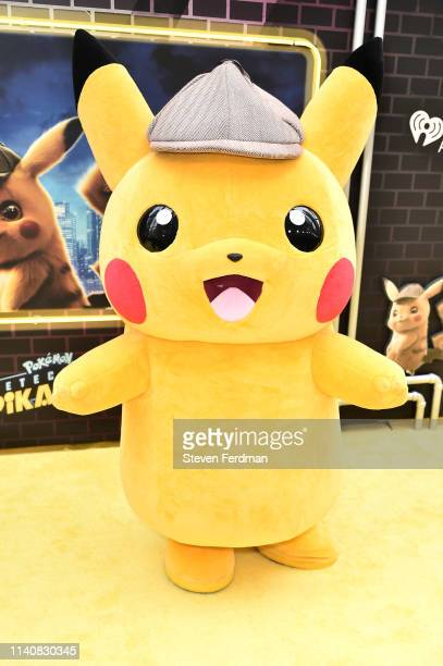Pikachu attends the premiere of Pokemon Detective Pikachu at Military Island in Times Square on May 2 2019 in New York City