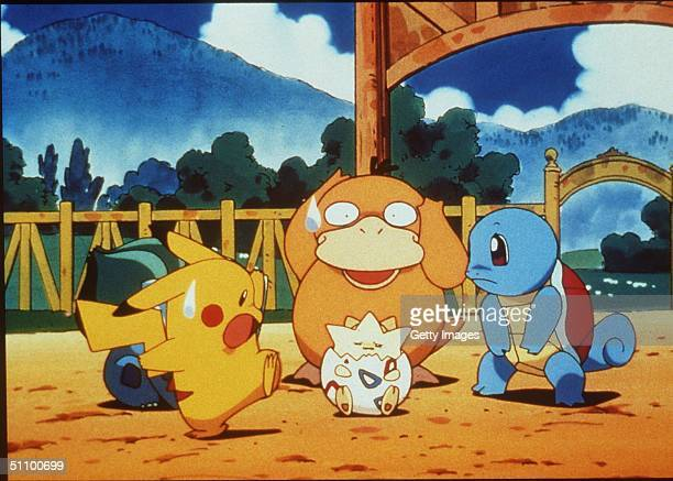 Pikachu Psyduck Togepy Squirtle In The Animated Movie PokemonThe First Movie