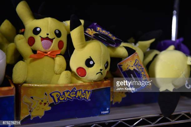 Pikachu toys for sale at the Pokemon European International Championships at ExCel on November 17 2017 in London England Thousands of competitors...