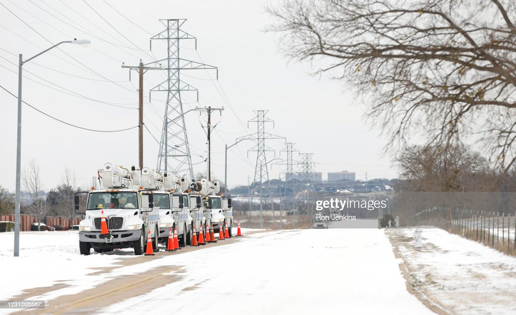 Winter Storm Uri Brings Ice And Snow Across Widespread Parts Of The Nation : News Photo