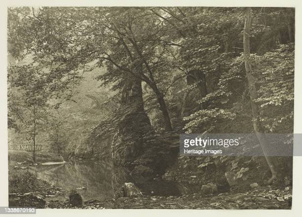 Pike Pool , 1880s. A work made of photogravure, plate li from the album 'the compleat angler or the contemplative man's recreation, volume ii' ;...