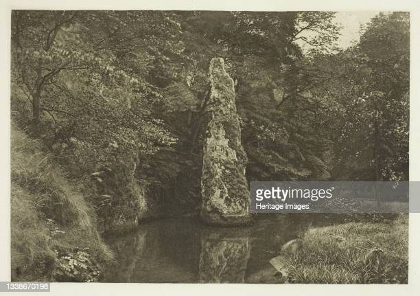 Pike Pool, Beresford Dale, 1880s. A work made of photogravure, plate l from the album 'the compleat angler or the contemplative man's recreation,...