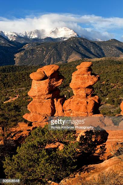 Pikes Peak and the Siamese Twins Rock Formations