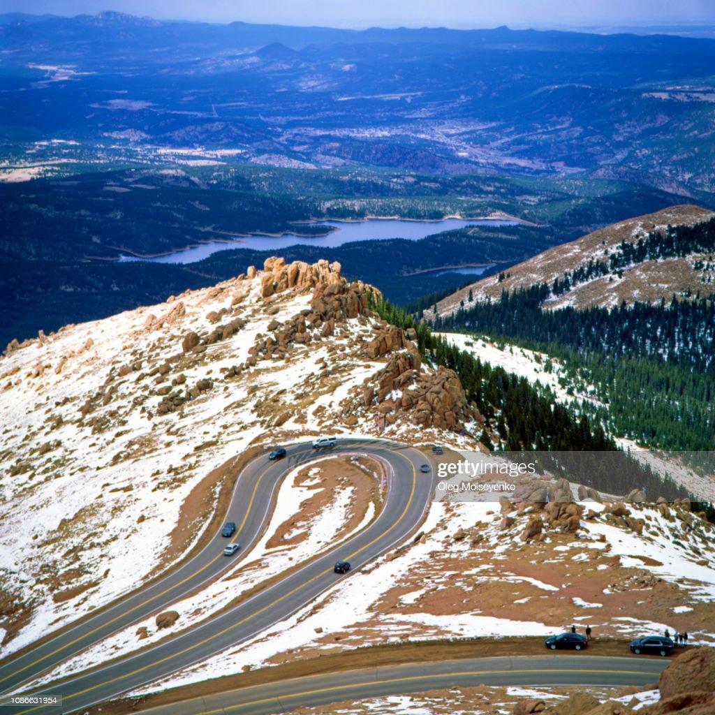 Pikes Peak Highway, Pikes Peak Mountain, Colorado : Stock Photo