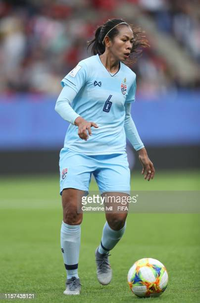 Pikul Khueanpet of Thailand during the 2019 FIFA Women's World Cup France group F match between Thailand and Chile at Roazhon Park on June 20 2019 in...