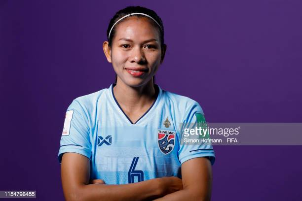 Pikul Khueanpet of Thailand poses for a portrait during the official FIFA Women's World Cup 2019 portrait session at Grand Hotel Continental on June...
