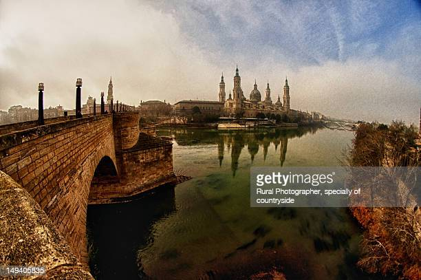 Pilar and Ebro River view