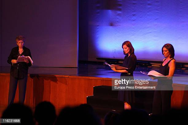Pilar Bardem Aitana SanchezGijon and Pilar del Rio take part in 'Remembering Saramago' an homage to the Portuguese writer and Nobel Prize for...
