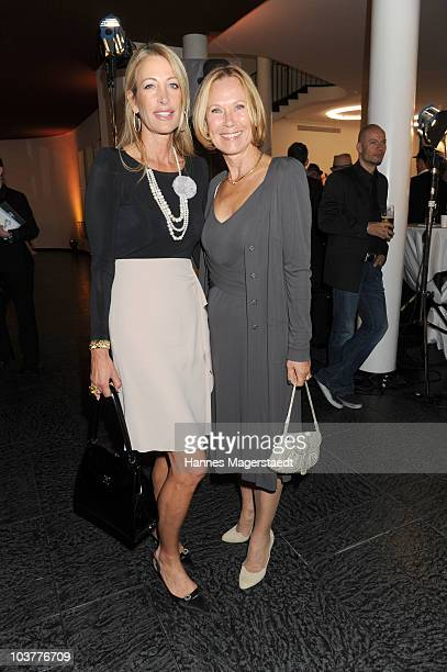 Pilar Brehme and Sybille Beckenbauer attend the Gabriele Blachnik atumn and winter 2010 / 2011 fashion collection at the Alte Kongresshalle on...