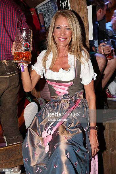 Pilar Brehme during Oktoberfest at Kaeferzelt/Theresienwiese on September 28 2014 in Munich Germany