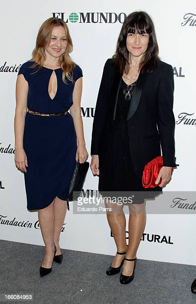 Pilar Castro and Angeles Gonzalez Sinde attend ValleInclan awards photocall at Royal Theatre on April 8 2013 in Madrid Spain