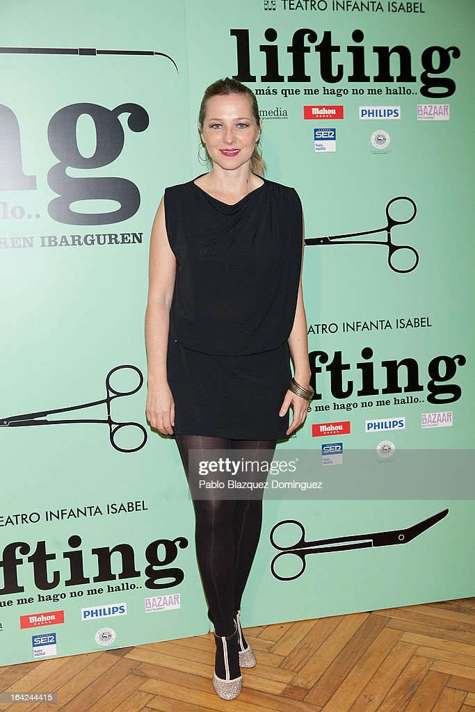 Pilar Castro attends the 'Lifting' premiere at Infanta Isabel Theatre on March 21, 2013 in Madrid, Spain.