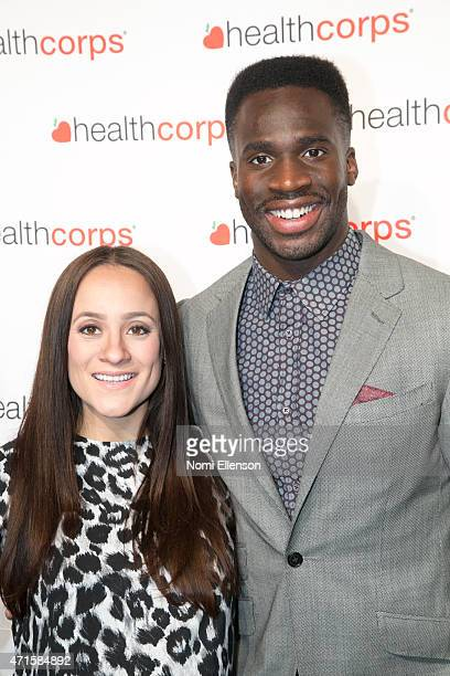 Pilar Davis and Prince Amukamara attend the 9th Annual HealthCorps' Gala at Cipriani Wall Street on April 29 2015 in New York City
