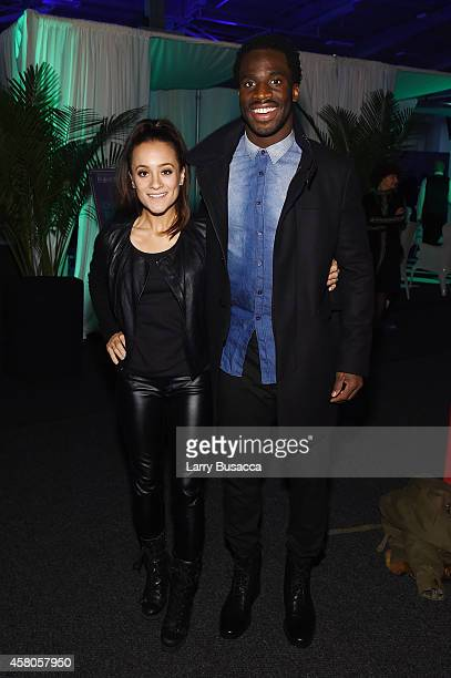 Pilar Davis and professional football player Prince Amukamara attend City Harvest's 20th annual Bid Against Hunger on October 29, 2014 in New York...