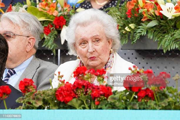 Pilar de Borbón attend the men's final during day 9 of the Mutua Madrid Open at La Caja Magica on May 12 2019 in Madrid Spain