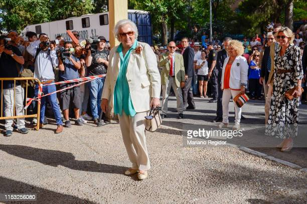 Pilar de Borbon attends bullfights in Aranjuez bullring on June 02 2019 in Aranjuez Spain