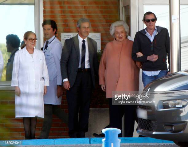 Pilar de Borbon is seen on February 22 2019 in Madrid Spain