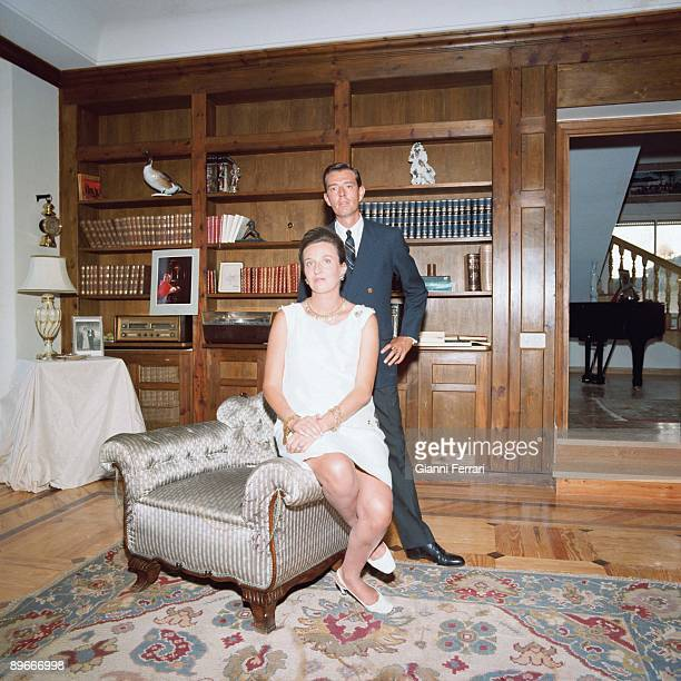 Pilar de Borbon with her husband Luis Gomez de Acebo in their Home