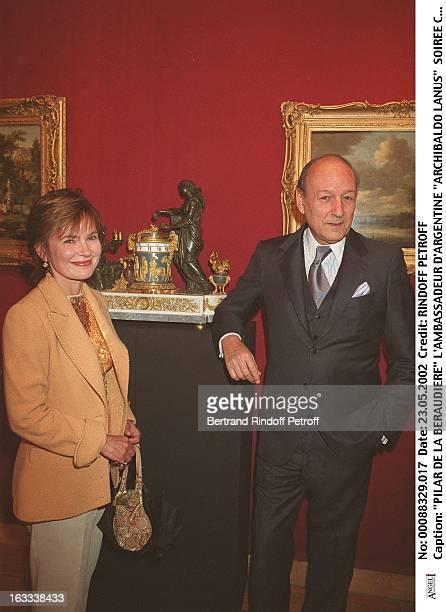 Pilar De La Beraudiere the Ambassador of Argentina Archibaldo Lanus party at Christie's collection of the Marquis de Bath Avenue Matignon Paris