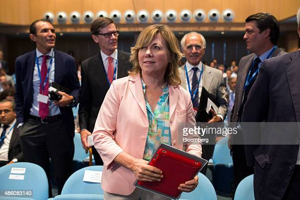 Pilar del Castillo a member of the European parliament attends the opening session of the 29th Telecommunications and Digital Economy conference in...