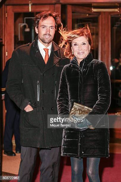 Pilar Eyre and Ferran Llisterri attend the 72th Nadal Literature Awards at the Palace Hotel Barcelona on January 6 2016 in Barcelona Spain
