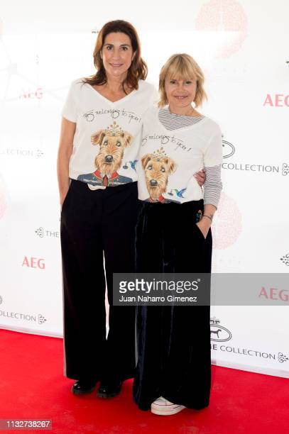 Pilar Garcia de la Granja and Eugenia Martinez de Irujo attend 'Camiseta Querer Limited Edition By The Extreme Collection' photocall at The Extreme...
