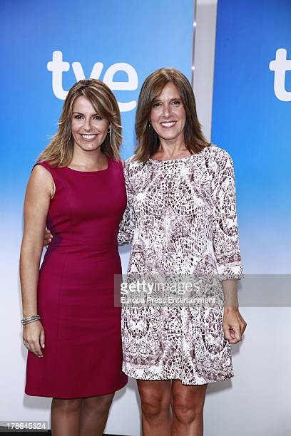 Pilar Garcia Muniz and Ana Blanco attend the presentation of the new season of Spanish channel 'TVE News' on August 29 2013 in Madrid Spain