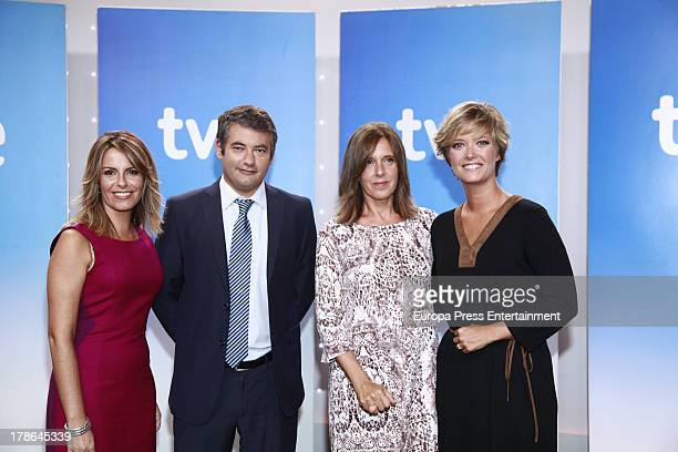 Pilar Garcia Muniz Julio Somoano Ana Blanco and Maria Casado attend the presentation of the new season of Spanish channel 'TVE News' on August 29...